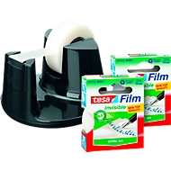 tesafilm® tafelafroller Easy Cut Compact + 3 rollen plakband mat-onzichtbaar