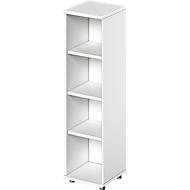 TETRIS SOLID boekenkast, spaanplaat, 4 OH, B 400 x D 421 x H 1520 mm, wit
