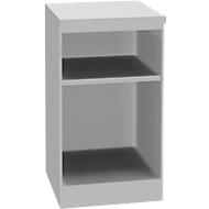 TETRIS SOLID houten boekenkast, 1,5 OH, B 400 x D 413 x H 720 mm, lichtgrijs/blankalu