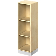 TETRIS SOLID houten boekenkast, 3 OH, B 400 x D 413 x H 1170 mm, ahorndecor/blank alu