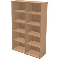 TETRIS WALL boekenkast, 5 OH, B 1200 x D 420 x H 1880 mm, beukendecor