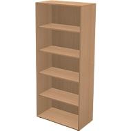 TETRIS WALL boekenkast, 5 OH, B 800 x D 420 x H 1880 mm, beukendecor