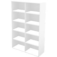 TETRIS WALL boekenkast, spaanplaat, 5 OH, B 1000 x D 420 x H 1880 mm, wit