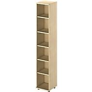 TETRIS WOOD boekenkast, 6 OH, B 400 x D 421 x H 2270 mm, ahorndecor