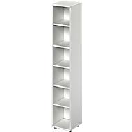 TETRIS WOOD boekenkast, 6 OH, B 400 x D 421 x H 2270 mm, lichtgrijs