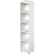 TETRIS WOOD boekenkast, spaanplaat, 5 OH, B 400 x D 421 x H 1910 mm, wit