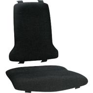 Textilpolstergarnitur für Arbeitsdrehstuhl Sintec, schwarz