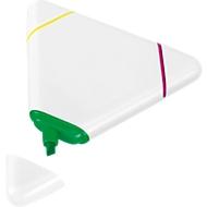 Textmarker Mark it, 3 Farben: gelb/grün/pink, dreieckiges Kunststoffgehäuse + Werbedruck