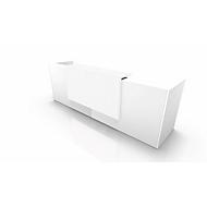 Theke Spezia, gerade, B 3260 x T 880 x H 1130 mm, weiß/weiß