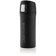 Thermobecher Easy Lock, Edelstahl, doppelwandig, auslaufsicher, 300 ml, Lasergravur o. Tampondruck 25 x 50 mm, schwarz