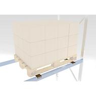 Tiefenauflage, verzinkt, Rahmentiefe 850 mm, max. Gewicht 1000 kg