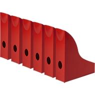 Tijdschriftencassette Basic, rood
