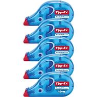 Tipp-Ex Mouse correctierollers, 4,2 mm x 10 m, set van 5 stuks