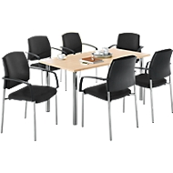 Tisch + 6 Stühle SSI-PROLINE, Ahorn
