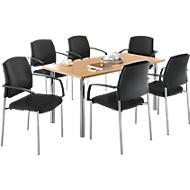 Tisch + 6 Stühle SSI-PROLINE, Buche
