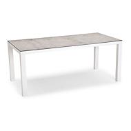 Tisch Houston, Aluminium, rechteckig, B2100xT900 mm, weiß