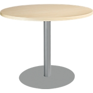 Tisch mit Tellerfuß, ø 1000 x H 717 mm, Ahorn