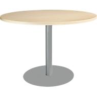 Tisch mit Tellerfuß, ø 1200 x H 617-817 mm, Ahorn