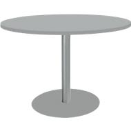 Tisch mit Tellerfuß, ø 1200 x H 617-817 mm, lichtgrau