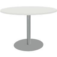 Tisch mit Tellerfuß, ø 1200 x H 617-817 mm, weiß