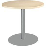 Tisch mit Tellerfuß, ø 800 x H 717 mm, Ahorn