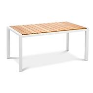 Tisch Paros, rechteckig, witterungsbeständige Patina, B1600xT900 mm, weiß/Teakholz