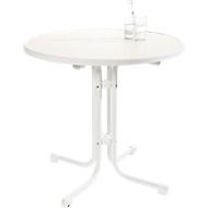 Tisch Quickstep, desinfektionsmittelbeständig, ø 700 mm