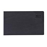 Tisch- und Taschenkalender Sidney, 128 Seiten, B 150 x H 90 mm, Werbedruck 60 x 30 mm, anthrazit, Auswahl Werbeanbringung optional