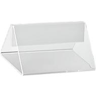 Tischaufsteller, glasklare Acryl