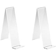 Tischaufsteller, glasklares PLEXIGLAS®, 110 mm hoch, 2 Stück