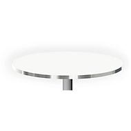 Tischplatte mit Aluminiumkante, ø 800 mm, weiß