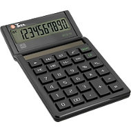 Tischrechner Twen Eco 10, solarbetrieben, 10-stelliges Display, MU- & GT-Funktion