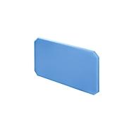 Tischtrennwand, B 800 x H 450 mm, hellblau