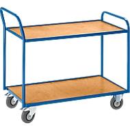 Tischwagen, gekröpfter Schiebebügel, 2 Etagen