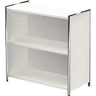 TOLEDO boekenkast, met zicht-achterwand, 2 OH, B 800 x D 380 x H 780 mm, wit