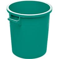Ton, van HDPE, stapelbaar 35 liter, groen