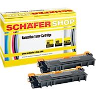 Toner 2 stuks SSI compatibel met Brother TN-326BK