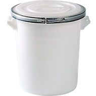 Tonne, aus Kunststoff, inklusive Deckel, 75 Liter