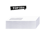 Top Deal Sparset Briefumschläge, DIN lang, selbstklebend, mit Fenster, weiß, 1000 Stück