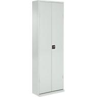 TOP FIX-Regalschrank, 2000 mm hoch, 15 Böden, 82 Kästen, mit Türen, lichtgrau