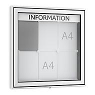 Top-informatiebord, puntig, 60 mm diep, 3 x 2, aluminium zilver