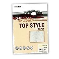 Marmorp. Top Style A4 200g 20 Blatt weiß