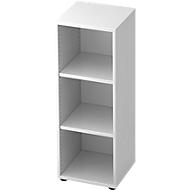 TOPAS LINE boekenkast, 3 OH, spaanplaat, B 400 x D 400 x H 1100 mm, wit