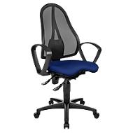 Topstar Bürostuhl BALANCE 400 NET, Permanentkontakt, mit Armlehnen, Fitness-Orthositz, blau