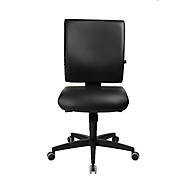 Topstar Bürostuhl LIGHTSTAR 10, ohne Armlehnen, Synchronmechanik, Flachsitz, Kunstleder desinfektionsmittelbeständig, schwarz/schwarz