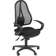 Topstar Bürostuhl OPEN POINT SY, Synchronmechanik, ohne Armlehnen, Bandscheibensitz, schwarz