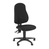 Topstar Bürostuhl Point 600, Permanentkontakt-Mechanik, ohne Armlehnen, Muldensitz, schwarz