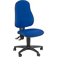 Topstar Bürostuhl Point 600, Synchronmechanik, ohne Armlehnen, Muldensitz, blau