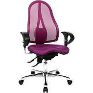 Topstar Bürostuhl SITNESS 15, Permanentkontakt, mit Armlehnen, Netzrücken, Fitness-Orthositz, violett