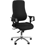 Topstar Bürostuhl SITNESS 55, Punktsynchronmechanik, mit Armlehnen, 3D-Body-Balance-Tec®, schwarz
